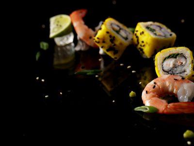 Sushi Rolls with Shrimp